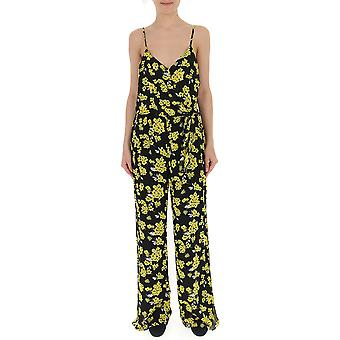 Michael By Michael Kors Yellow/black Cotton Jumpsuit