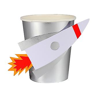 Meri Meri Space Rocket Paper Party Cups x 8