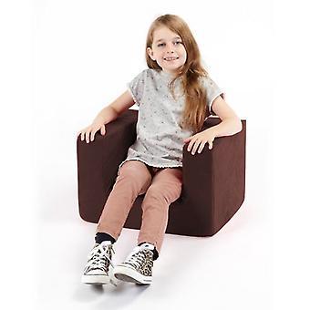 Children's Brown Comfy Foam Arm Chair