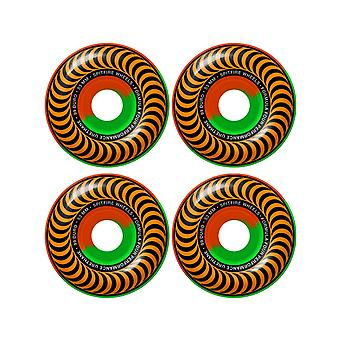 Spitfire Orange-Green Classic 50-50 Swirl 99DU-53mm ruedas de Skate