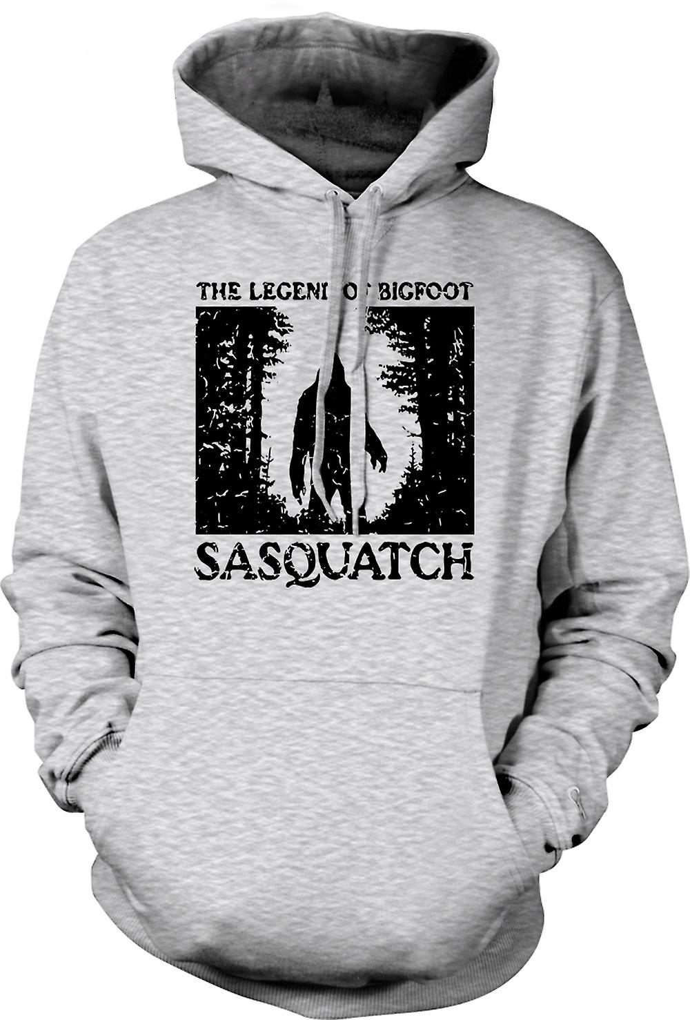 Mens Hoodie - Sasquatch Yeti Bigfoot Sighting - Cryptozoology