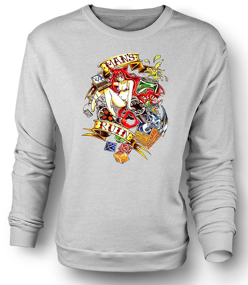 Ruine de l'homme moderne Mens Sweatshirt - pin-up