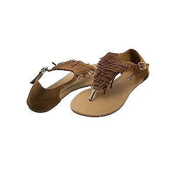 Sara Z Ladies Fringed Thong Sandal