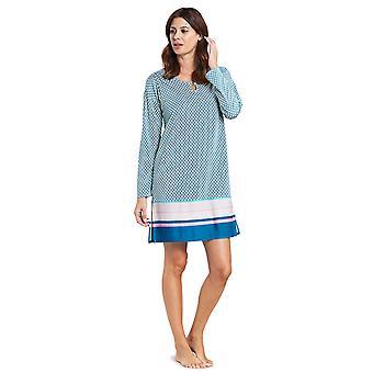 Feraud 3191006-10726 Women's High Class Mint Turquoise Cotton Night Gown Nightdress