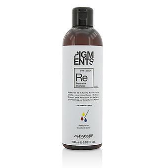 AlfaParf Pigments Reparative Shampoo (For Damaged Hair) 200ml/6.76oz