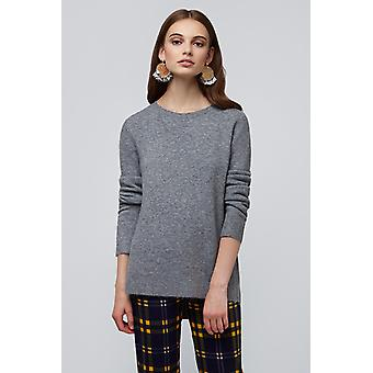 Louche Morgane Step Hem Jumper Grey