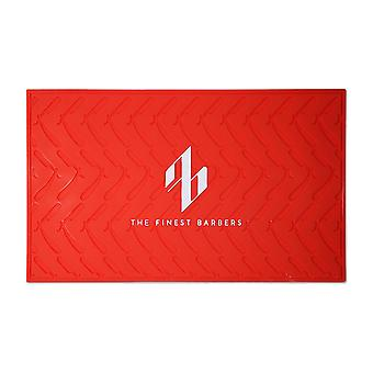 TheFinestBarbers Station Mat - Red/White