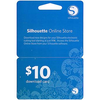 Silhouette $10 Download Card 10Dnld