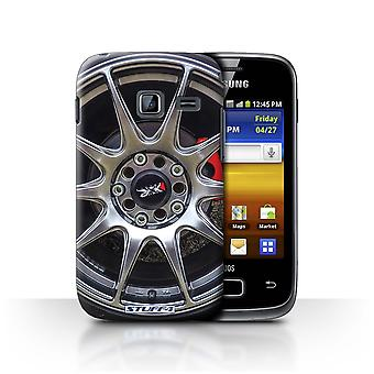 STUFF4 Case/Cover for Samsung Galaxy Y Duos/S6102/Silver/Red/Alloy Wheels