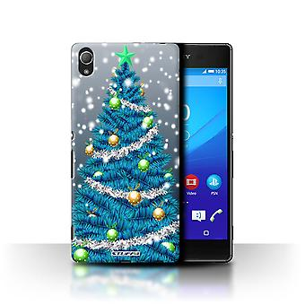 STUFF4 Case/Cover for Sony Xperia Z3+/Plus/Tree/Snow/Christmas Decorations