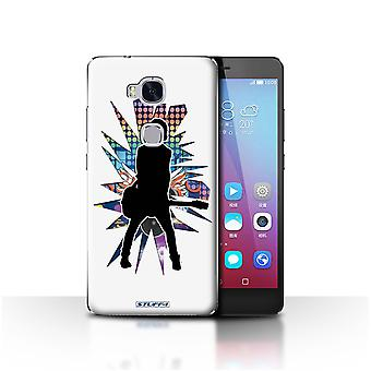 STUFF4 Case/Cover for Huawei Honor 5X/GR5/Emotion White/Rock Star Pose