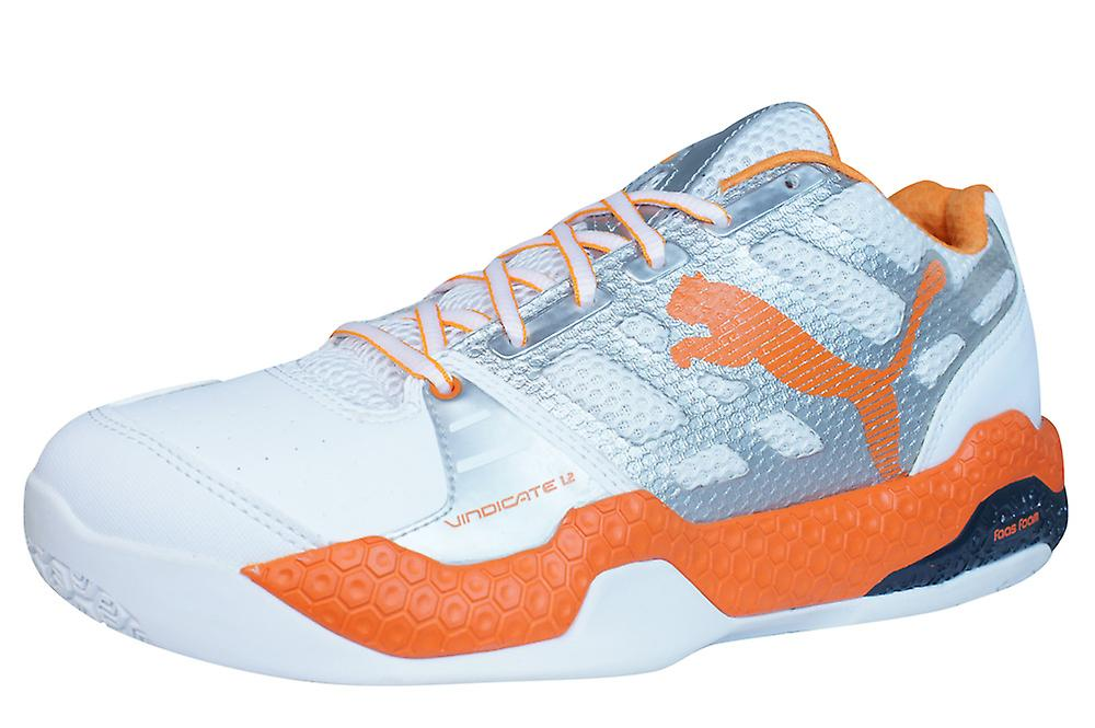 Puma Vindicate 12 Mens Indoor Sports Trainers / Shoes - White