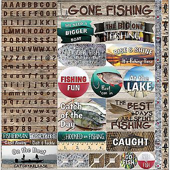 Gone Fishing Sticker 12