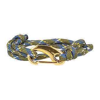 Vikings bracelet green white yellow blue lobster clasp gold
