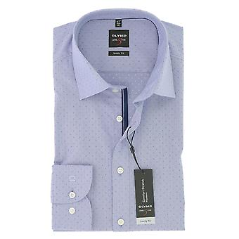 Olympus mens business shirt level 5 violet body fit New York Kent comfort stretch size 37