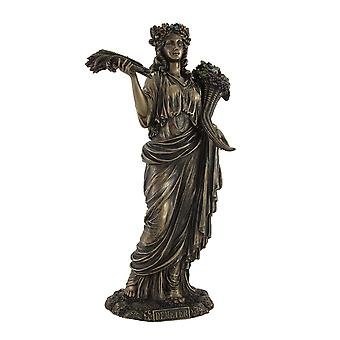 Greek Goddess of Harvest Demeter Bronzed Statue