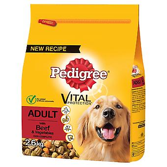 Pedigree Dry Vital Protection With Beef And Vegetable 2.6kg