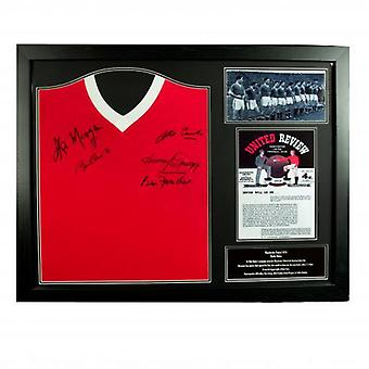 Manchester United 1958 Busby Babes Signed Shirt (Framed)