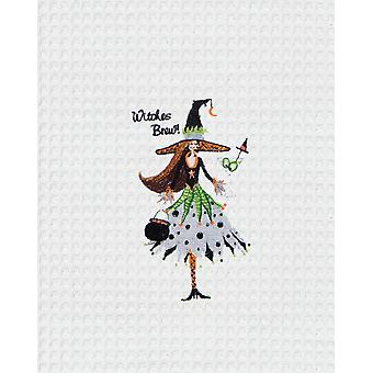 Witchy Woman Witches Brew Halloween Holiday Kitchen Towel Waffle Weave 27 Inch