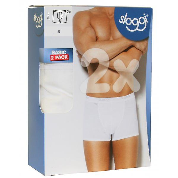 Sloggi 2-Pack Basic Short Boxer Trunks, White