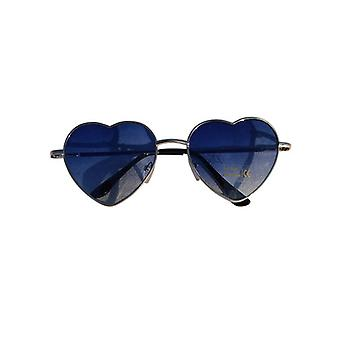 Trendy hearts sunglasses blue