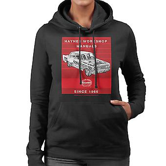 Haynes Workshop Manual 0025 Ford Zodiac Stripe Women's Hooded Sweatshirt