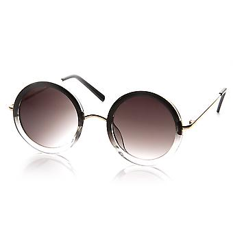 Damenmode-Kreis um Fade zweifarbige Sonnenbrille