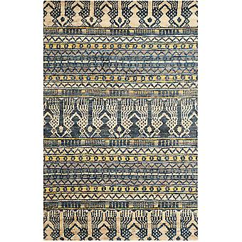Taza blå Tribal Jute tæppe - Safavieh 152 x 143