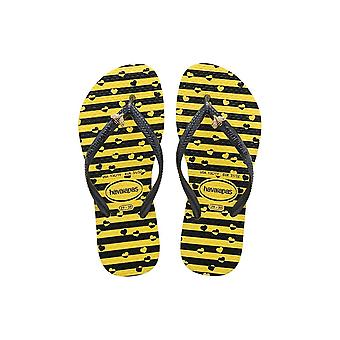 Havaianas Kids Slim Bugs - Citrus Yellow 2197 (Black)