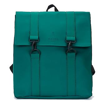 RAINS Rucksack MSN Bag Dark Teal Wasserabweisend Backpack Messenger Daypack Grün