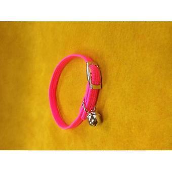 Cat Collar Nylon Stretch Pink