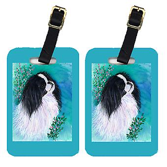 Carolines Treasures  SS8134BT Pair of 2 Japanese Chin Luggage Tags