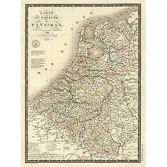 Pays-Bas 1821 Poster Print von Adrien Hubert Brue
