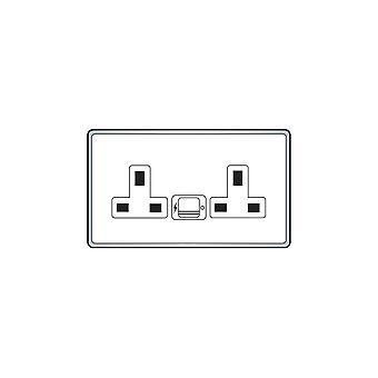 Hamilton Litestat Hartland Gloss bianco SP SS2 + USBx2 WH/WH