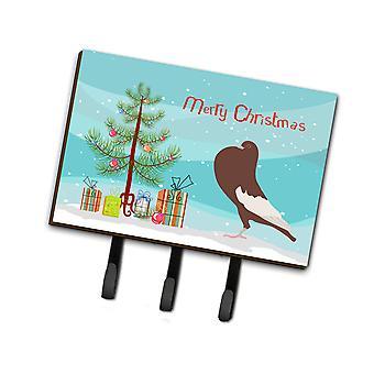 English Pouter Pigeon Christmas Leash or Key Holder