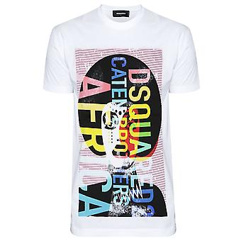 DSQUARED2 DSQUARED2 White Graphic T-Shirt