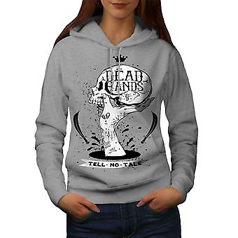 Dead Hand Goth Women GreyHoodie | Wellcoda