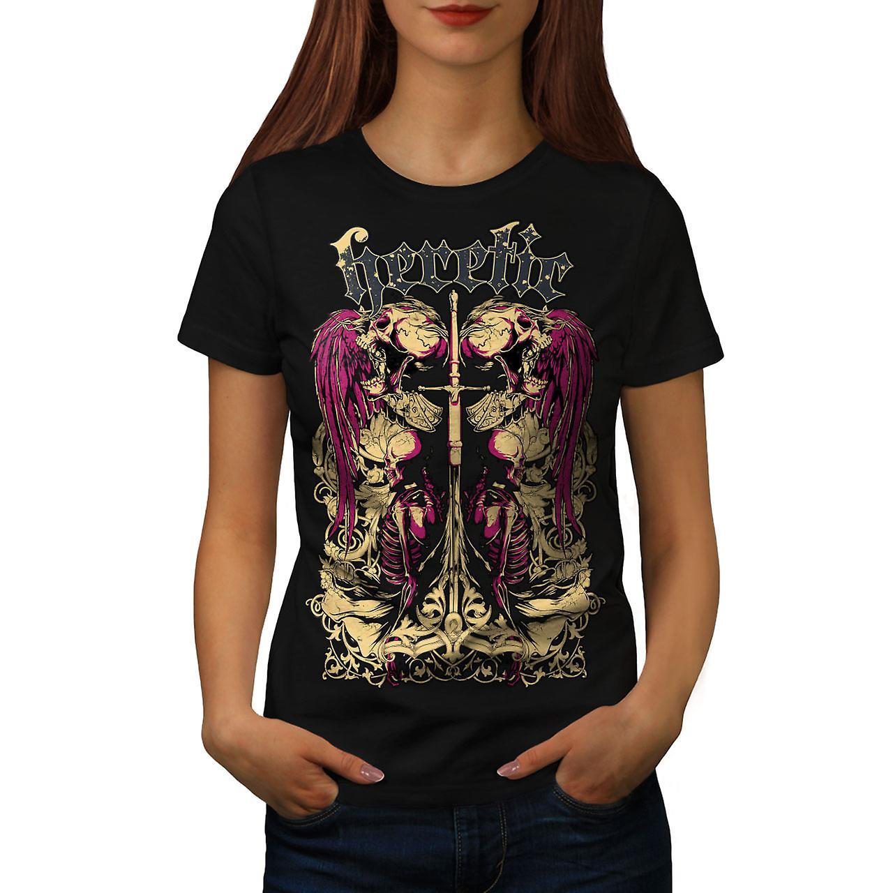 Heretic Dead Angel Women BlackT-shirt | Wellcoda