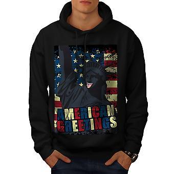 American Funny Flag Men BlackHoodie   Wellcoda