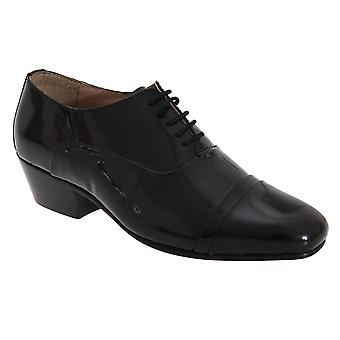 Montecatini Mens Folded Cap 5 Eyelet Oxford Patent Coated Leather Shoes