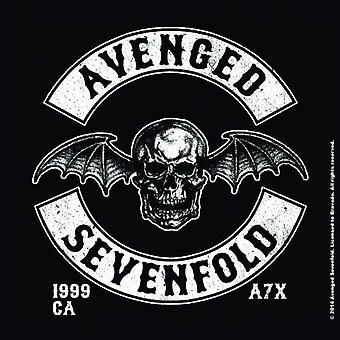 Avenged Sevenfold Coaster Deathbat Crest band logo new Official single drink