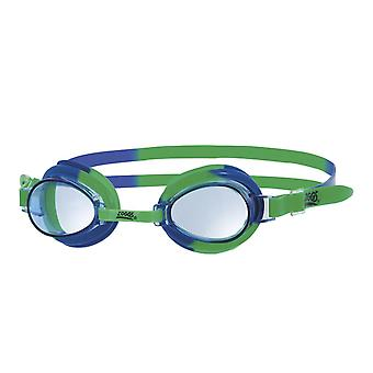 Zoggs Little Swirl Swim Goggle 0-6yrs- Clear Lens - Green/Blue Frame
