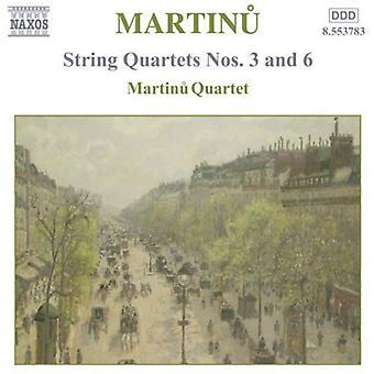 B. Martinu - Martinu: Streichquartette Nr. 3 und 6 [CD] USA import