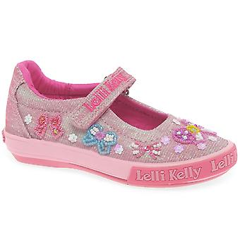 Lelli Kelly Shining Bow Dolly Girls Canvas Shoes