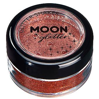 Fine Glitter Shakers by Moon Glitter – 100% Cosmetic Glitter for Face, Body, Nails, Hair and Lips - 5g - Copper Bronze