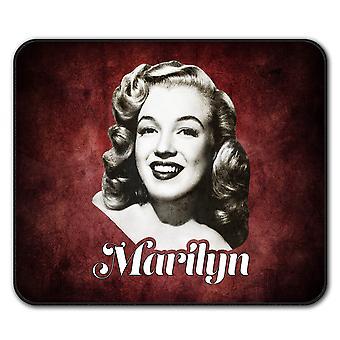 La celebridad Marilyn ratón antideslizante alfombra Pad 24 cm x 20 cm | Wellcoda