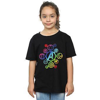 Marvel Avengers Infinity Krieg Rainbow Symbole T-Shirt für Mädchen