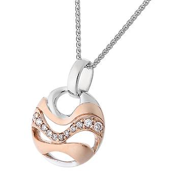 Orphelia Silver 925 Chain With Pendant And Rosegold Plated Zirconium  ZH-7085/1