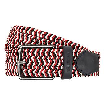 Strellson belts men's belts woven belt red/white/black 2037