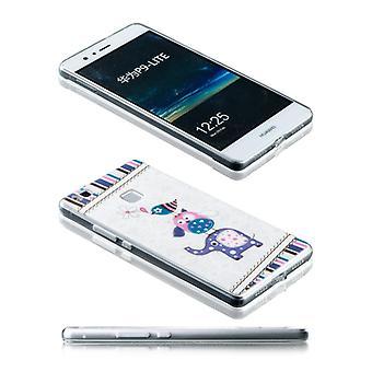 Silikoncase motiv 24 0,3 mm ultra tynde tilfældet for Huawei P9 Lite lomme dække